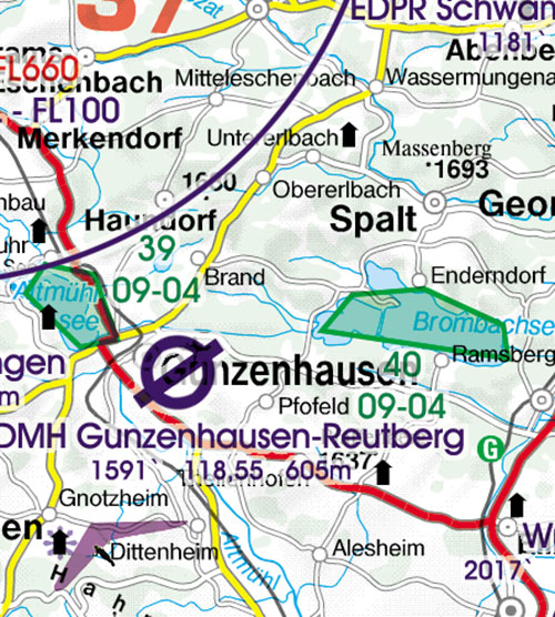 Charts germany ich554 germany north vfr chart 1500 000 product description sciox Images