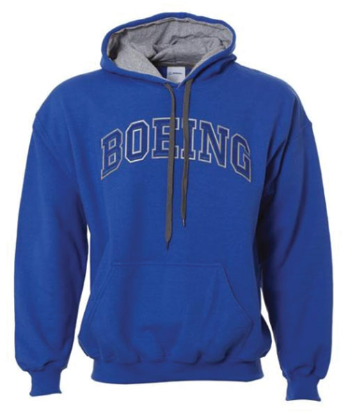 Double Applique Boeing Hoodie – BLUE - Boeing