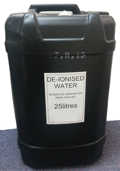De-Ionised Water – 25 Litre Drum