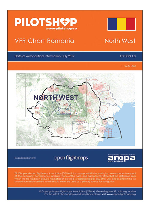 Romania VFR 1:500 000 Chart – North West