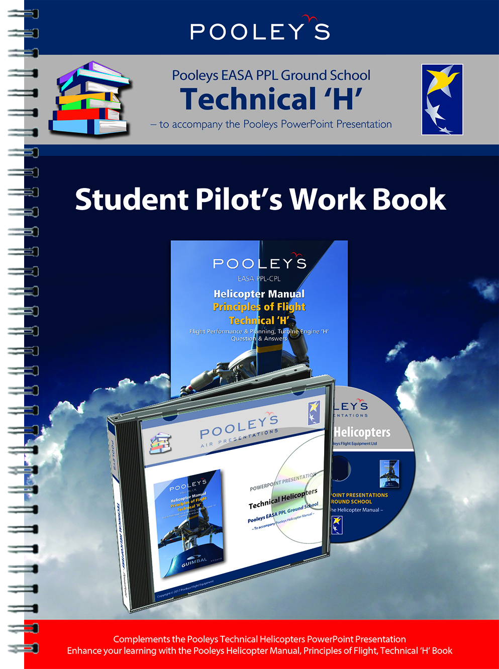 Pooleys Air Presentations – Technical Helicopter Student Pilot's Work Book (b/w, no text)