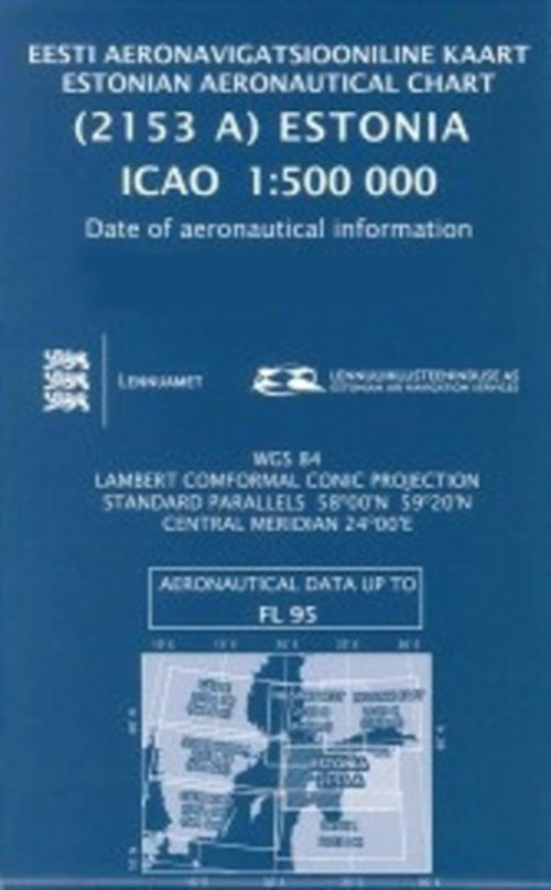 Estonia ICAO 1:500 000 Chart 2018 - European Charts and Guides