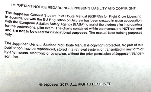 Jeppesen EASA-FCL General Student Pilot Route Manual GSPRMImage Id:133440