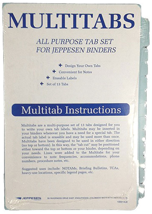 Multi tabs, all purpose tab set for Jeppesen Binders (set of 13)Image Id:133668