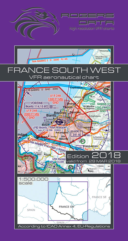 Charts ireland ich568 france south west vfr chart 1500 000 france south west vfr chart 1500 000 rogersdata rogersdata sciox Images