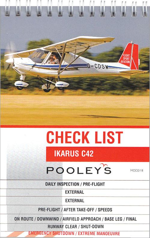 Checklists Ikarus C42 Ncl042 Ikarus C42 Checklist Pooleys