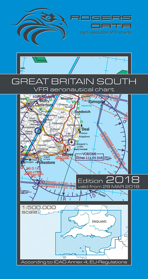2020 Great Britain South VFR Chart 1:500 000 - Rogersdata - Rogersdata