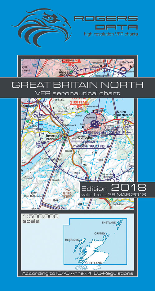 2020 Great Britain North VFR Chart 1:500 000 - Rogersdata - Rogersdata
