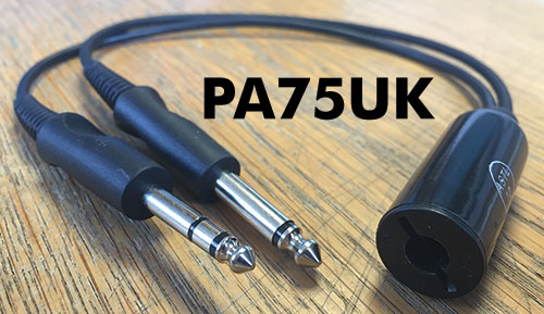 PA75UK – UK Nato Socket to Twin Plugs, Headset Adaptor