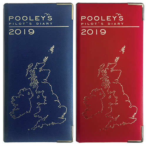 Pooleys Pilots Diary 2019 – Blue or Red - Pooleys