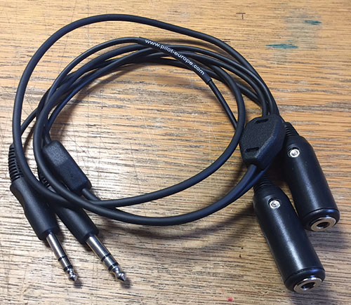 Headset Extension for GA Twin Plug Headset