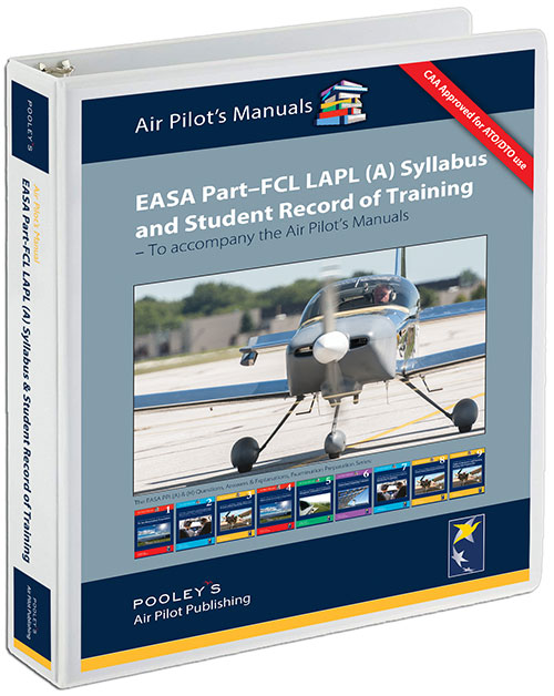 EASA Part-FCL LAPL (A) Syllabus & Student Record of Training LOOSE-LEAF with BINDERImage Id:140161