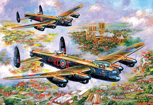 Lancasters over Lincoln, Jigsaw Puzzle (500 pieces)Image Id:141073