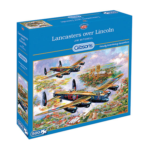 Lancasters over Lincoln, Jigsaw Puzzle (500 pieces)Image Id:141074