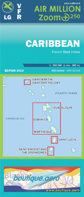 Air Million Zoom Edition 2018 – 1:250 000 Caribbean & French West Indies - Editerra