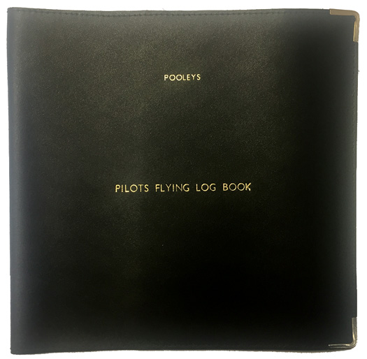Pooleys CPL Leather Non-JAR Log Book Cover - Black