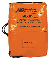 Survival Life Raft 4-6 person with Canopy (3-year service interval) - Survival Life Rafts