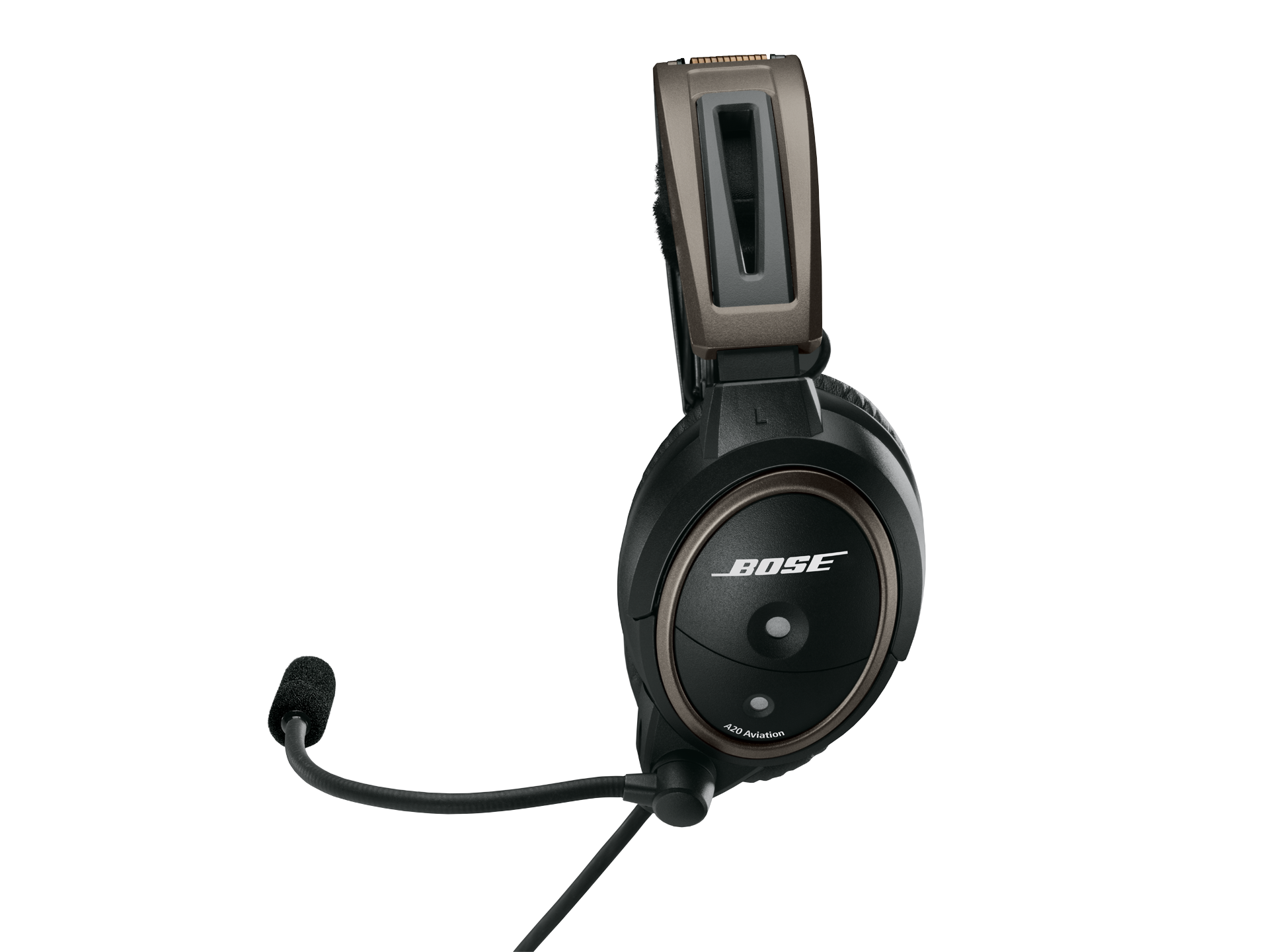 Bose A20 Helicopter Headset with U174 Plug, Bluetooth, Battery Powered, Straight Cable, Hi Imp. (324843-3030)Image Id:144812