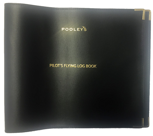 Pooleys Commercial Pilot Leather Log Book Cover EASA Part-FCL - Pooleys