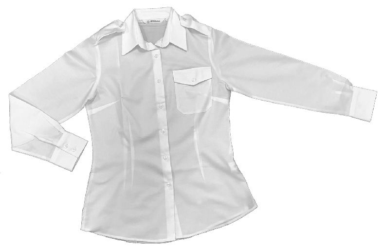 Ladies White Uniform Heritage Pilot Blouses - Long Sleeve