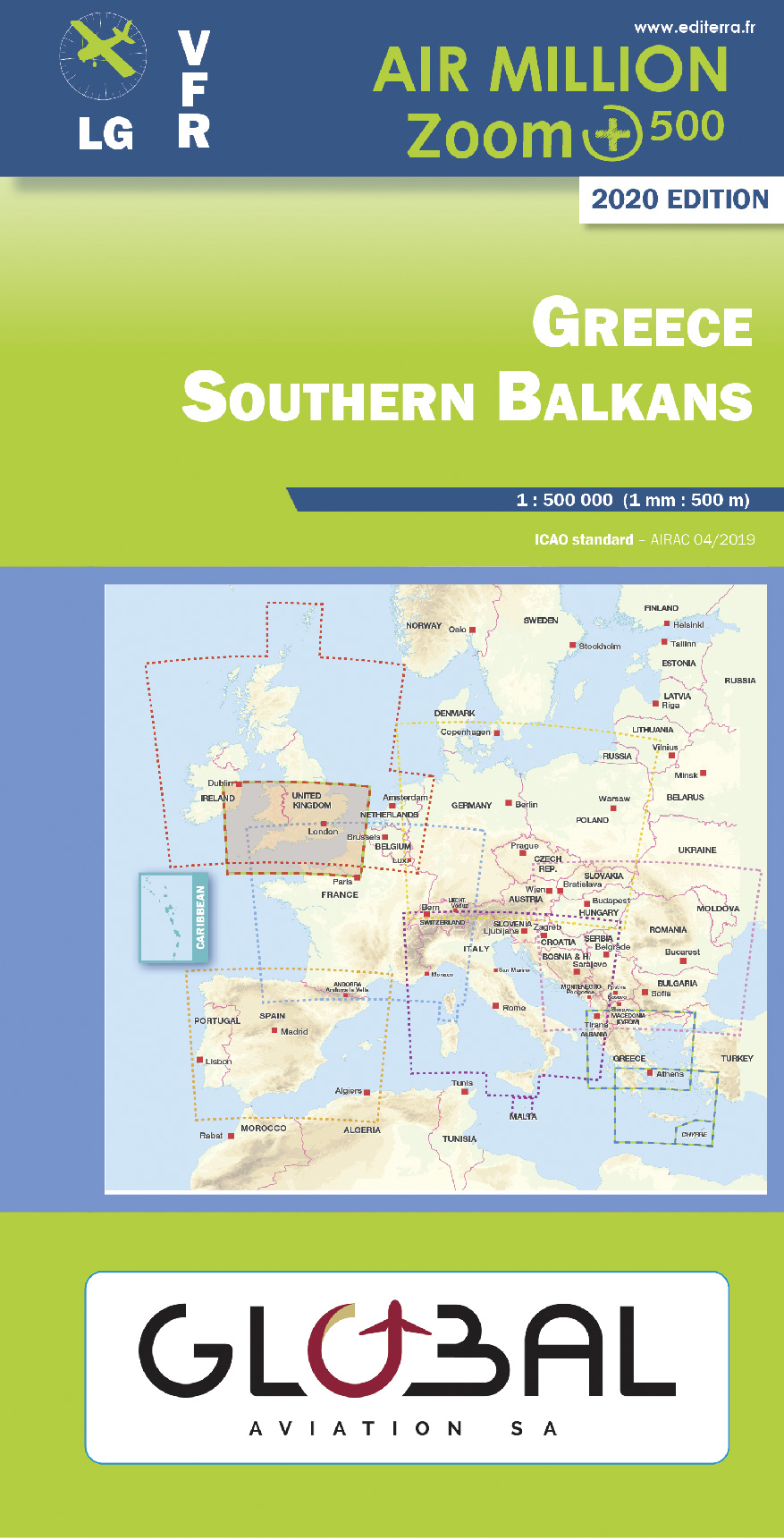 Air Million Zoom Edition 2020 – 1:500 000 Greece, Southern Balkans (Chart 2/2)