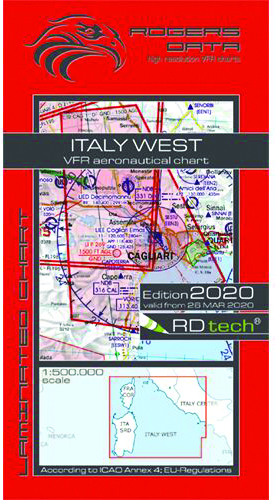 2020 Italy West VFR Chart 1:500 000 - RogersdataImage Id:149692