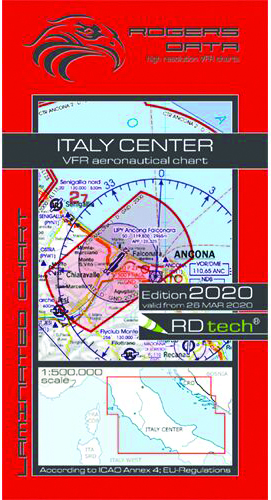 2020 Italy Centre VFR Chart 1:500 000 - RogersdataImage Id:149695