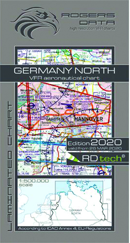2020 Germany North VFR Chart 1:500 000 - Rogersdata