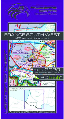 2020 France South West VFR Chart 1:500 000 - RogersdataImage Id:149703