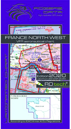 2020 France North West VFR Chart 1:500 000 - RogersdataImage Id:149705