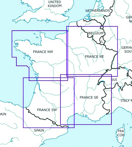 2020 France North West VFR Chart 1:500 000 - RogersdataImage Id:149707